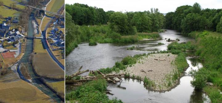 Left: Enns short restored section. Right: Ruhr long restored section. Photo credit: Daniel Hering.
