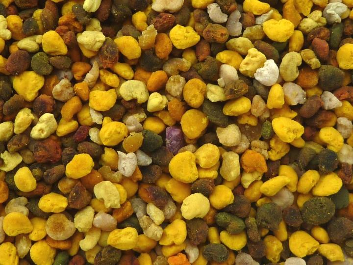 Pelotes de pollens en plan large
