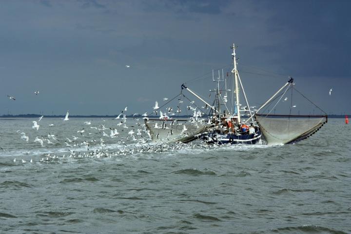North sea fishing boat