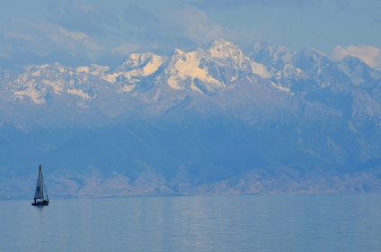 Kulbhushansingh Suryawanshi was doing field work in Kyrgyzstan. Kyrgyzstan is widely considered to be the country farthest from any ocean. But it does have the 6,200 square kilometre wide Lake Issyk Kul (foreground) and the Tien Shan Mountains with peaks rising above 7,000 m.