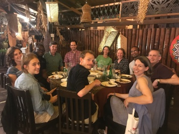 Managing Editor, Erika Newton meets with Associate Editors from across the British Ecological Society journals at ATBC, Malaysia (photo courtesy of Sharif Mukul).
